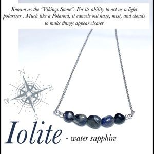 Rare Iolite Healing Gemstone Necklace